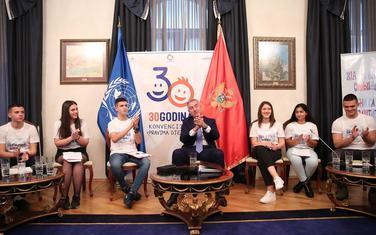 Đukanovićevi gosti povodom Svjetskog dana djeteta