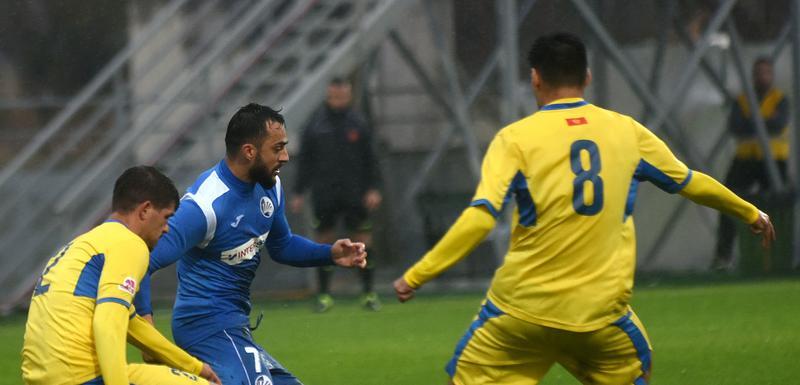 Damir Kojašević je postigao osam golova u prvenstvu Prva Telekom Ligastadion DG Arena Donja GoricaFk Podgorica  i  FK  Sutjeska NiksicFoto BORIS PEJOVIC