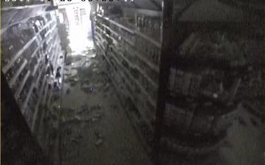 Oštećenje u prodavnici u Ulcinju