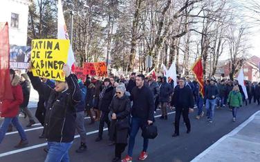 Sa jednog od protesta na Cetinju