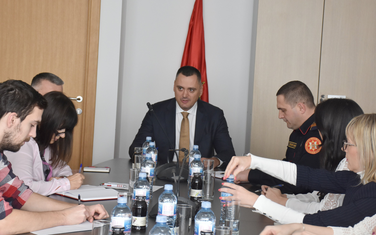 Pavićević na sastanku sa novinarima