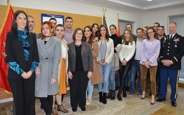 Sa posjete Ambasadi SAD u Podgorici