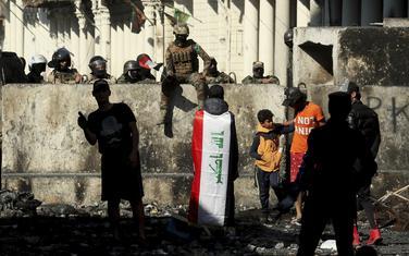 Detalj sa protesta u Bagdadu