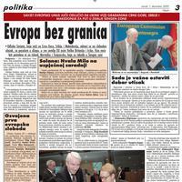 """Stranica """"Vijesti"""" od 29. novembra 2009."""