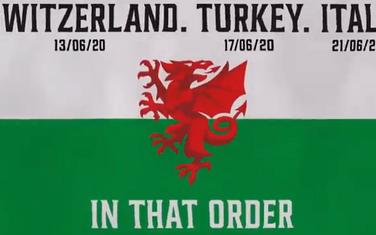Detalj sa najave utakmica Velsa na prvenstvu Evrope