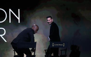 Didije Drogba i Leo Mesi na sceni u Parizu