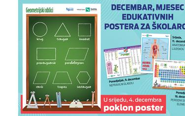 Decembar, mjesec edukativnih postera