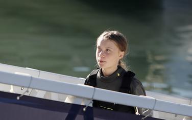 Greta Tunberg po dolasku u Lisabon