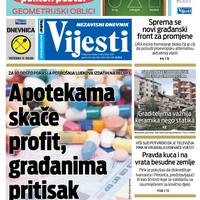 """Naslovna strana """"Vijesti"""" za četvrti decembar"""