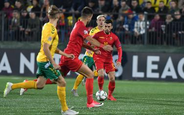 Sa meča Litvanija - Crna Gora (1:4) u Ligi nacija