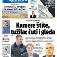 """Naslovna strana """"Vijesti"""" za 5. decembar 2019. godine"""