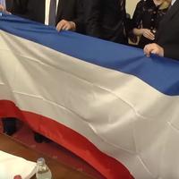 Zastava Krima u Skupštini Srbije