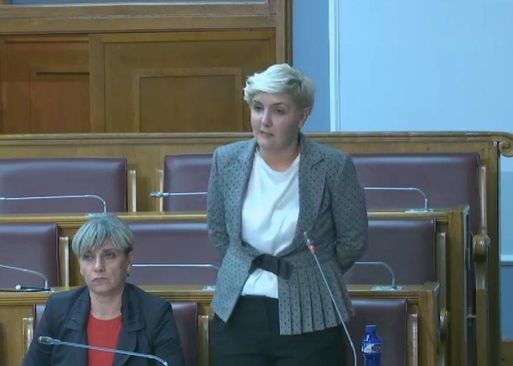 Dragica Sekulić danas u Skupštini