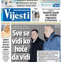 """Naslovna strana """"Vijesti"""" za 7. decembar 2019. godine"""