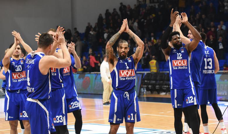 Slavlje košarkaša Budućnosti na kraju