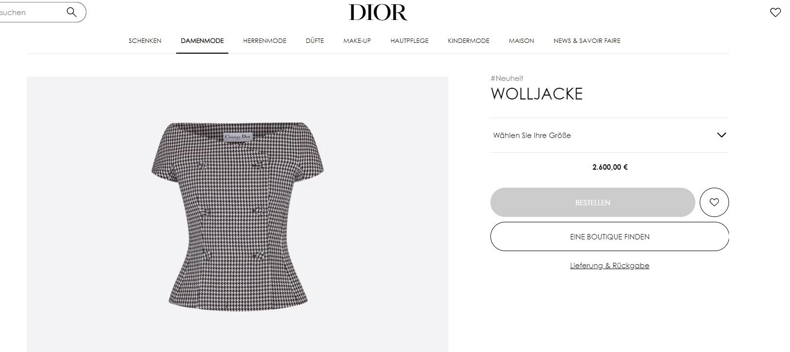"""""""Dior"""" bluza"""