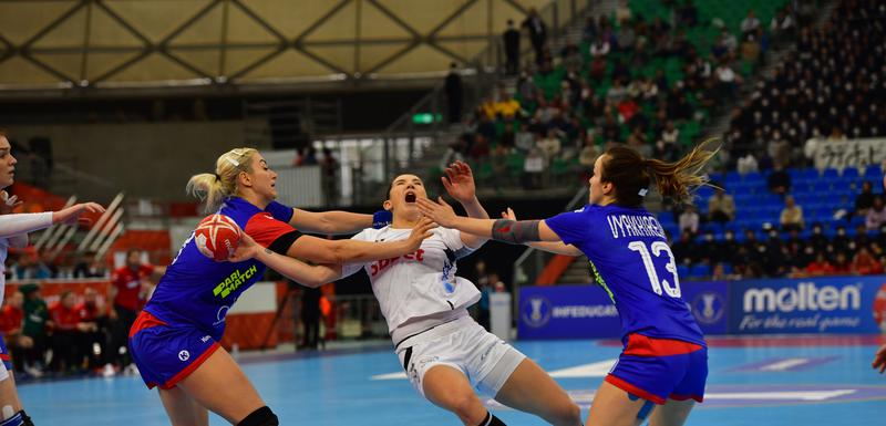 Milena Raičević na utakmici sa Rusijom