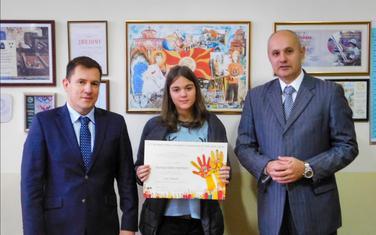 Iva Mandić, gradonačelnik Prijestonice Cetinje Aleksandar Kašćelan i ambasador Republike Češke u Crnoj Gori Karel Urban