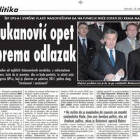 """Strana """"Vijesti"""" od 10. decembra 2009."""