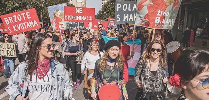 Sa prethodnog osmomartovskog marša u Podgorici
