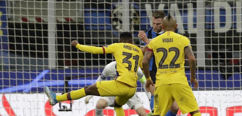 Fati postiže gol protiv Intera