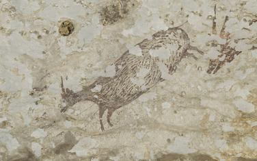 Prikaz lova u krečnjačkoj pećini Leang Bulu Sipong 4