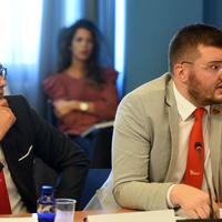 Poslanici Demokratske Crne Gore Danilo Šaranović i Moro Koprivica na Odboru za sveobuhvatnu reformu izbornog i drugog zakonodavstva