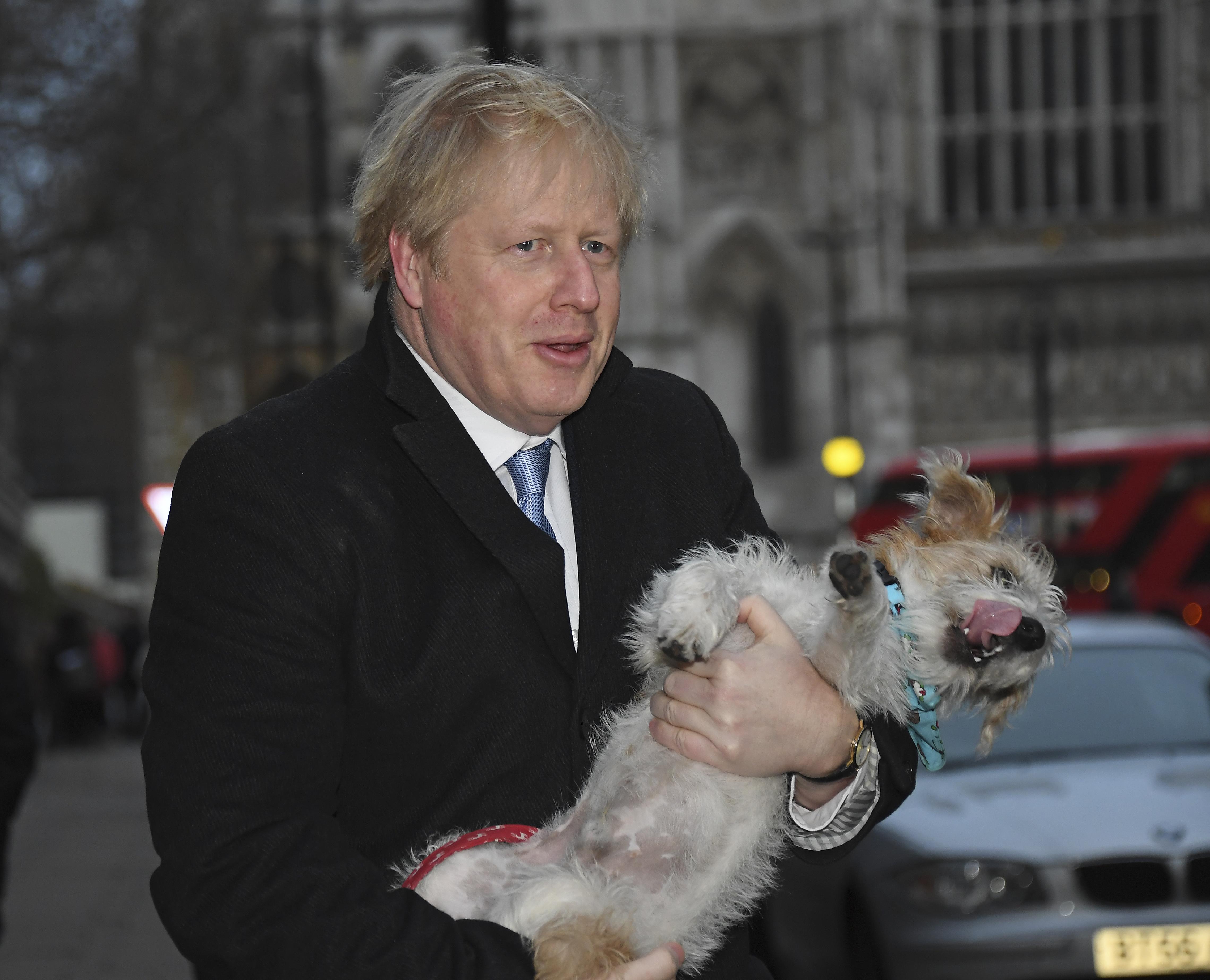 Boris Džonson sa psom