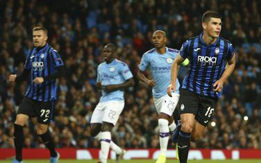 Ruslan Malinovski (Atalanta) slavi gol protiv Sitija