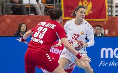 Katarina Bulatović na meču sa Srbijom