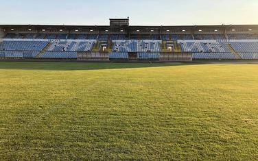 Zapadna tribina stadiona kraj Bistrice