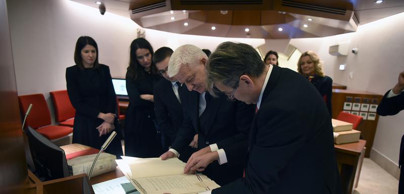 Marković tokom posjete Arhivu