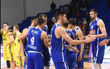"""Košarkaši Budućnosti nakon poraza od Oldenburga u """"Morači"""""""