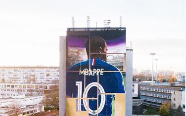 Mural posvećen Mbapeu