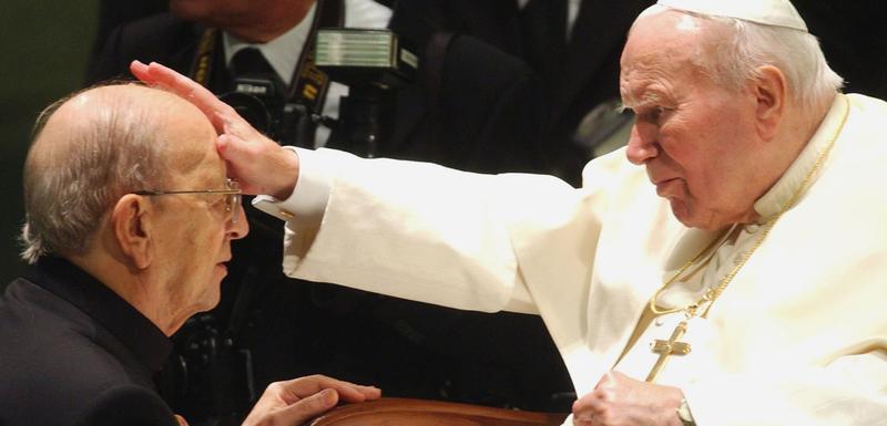 Papa Jovan Pavle i otac Marsial Masijel