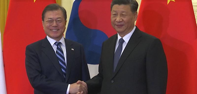 Mun Džae In i kineski predsjednik Si Đinping