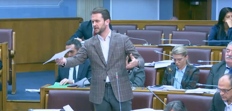 Konjević danas u parlamentu