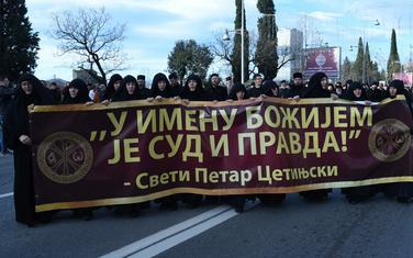 Sa današnjeg skupa Mitropolije ispred Skupštine Crne Gore