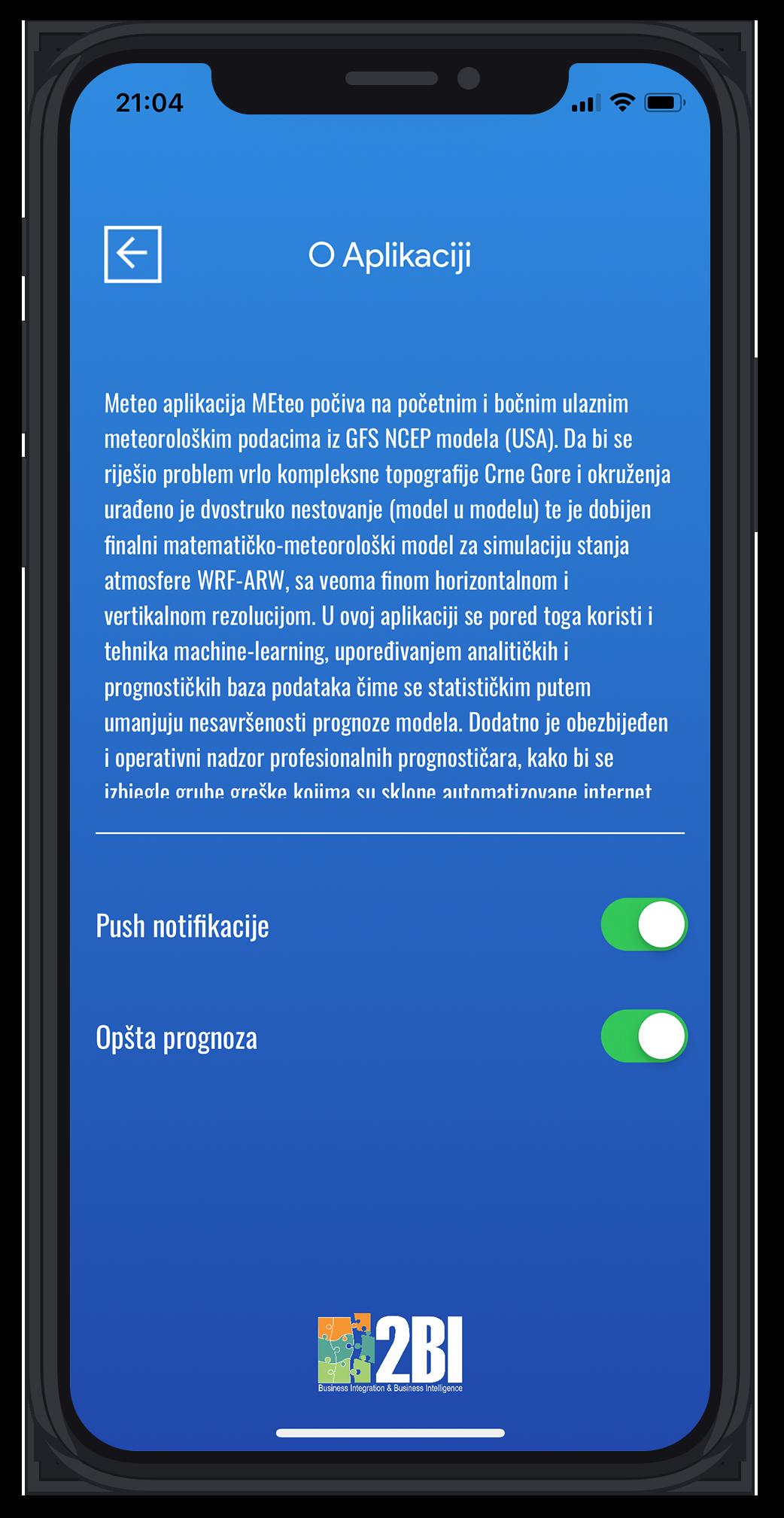 MEteo aplikacija