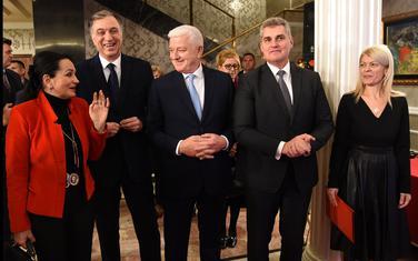 Vesna Medenica, Filip Vujanović, Duško Marković, Ivan Brajović i Sanja Damjanović