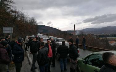 Blokada puta Berane-Bijelo Polje