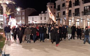 Protestna šetnja Tivat
