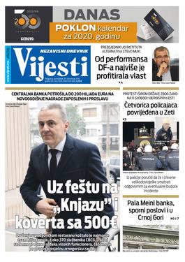 """Naslovna strana """"Vijesti"""" za 30. decembar"""