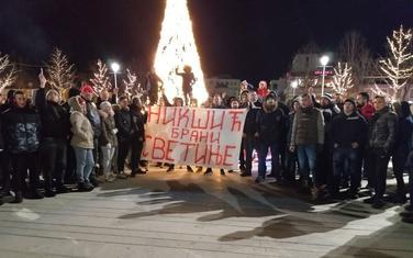 Sa protesta u Nikšiću