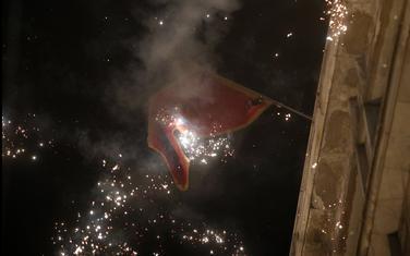 Raketama za vatromet je gađana zastava Crne Gore