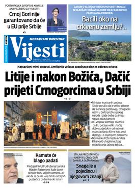 Naslovna strana za 6. i 7. januar