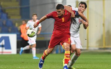 Nikola Krstović u dresu mlade reprezentacije Crne Gore