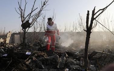 Spasioci na mjestu gdje se srušio ukrajinski avion