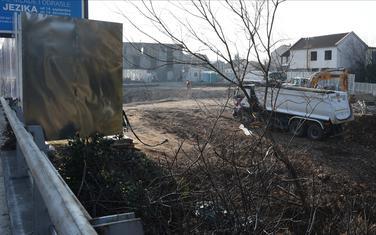 Gradilište na kojem je nađena bomba