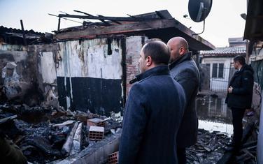 Spasovski na mjestu na kome je došlo do požara